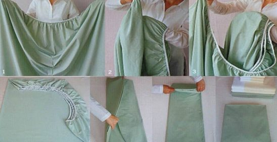 Como dobrar lençol de elástico? 7 fotos ensinanando a dobrar lençol de elástico Buddemeyer