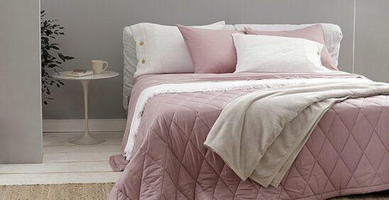Dica de enxoval ideal: Cama ambientada com roupa de cama Buddemeyer Basic Percalle